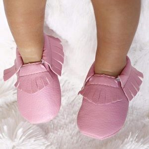 Other - Bubblegum Pink Moccasins Size 0-3m